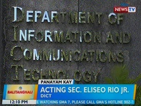 BT: Panayam kay acting Sec. Eliseo Rio Jr., DICT
