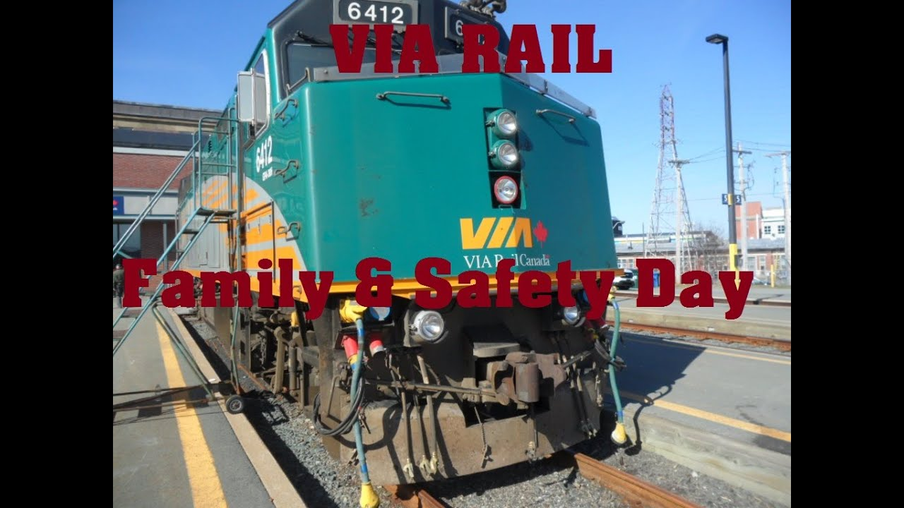 via rail halifax family safety day may 2nd 2015 youtube. Black Bedroom Furniture Sets. Home Design Ideas
