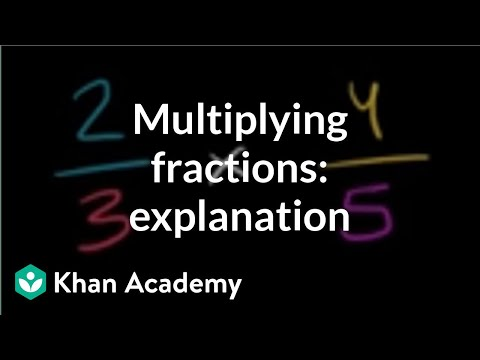 Multiplying two fractions: an explanation | Fractions | Pre-Algebra | Khan Academy