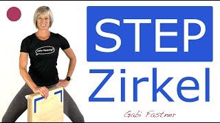 🍓45 min. Step Zirkel-Training   Fatburner-Workout für Fortgeschrittene