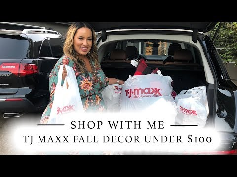 Shop With Me: Fall Decor less than 100 dollars at #TJMaxx #HomeGoods #Fall