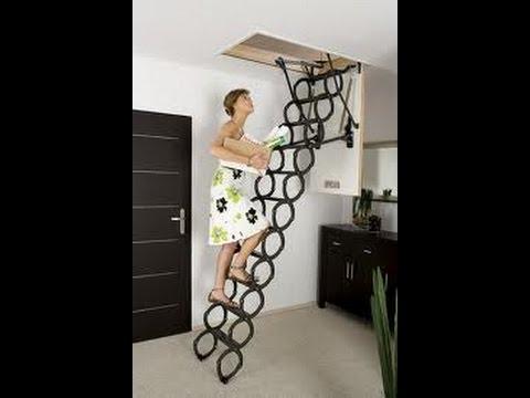 Монтаж металлической чердачной лестницы Fakro Факро LMK