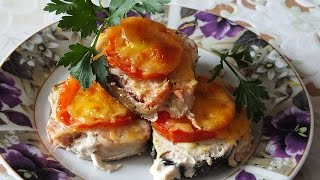 Горбуша запеченная в духовке с сыром простой рецепт вкусно и красиво