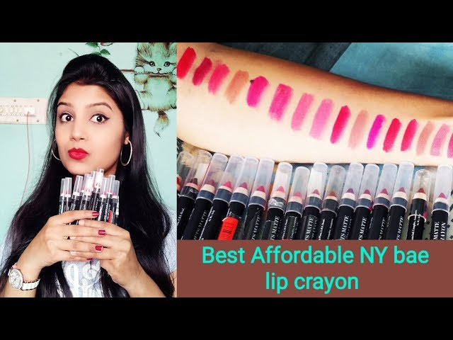 Best Affordable Lip Crayon    NY bae Mets Matte Lip Crayon Lip Swatches    Sweet Lifestyle