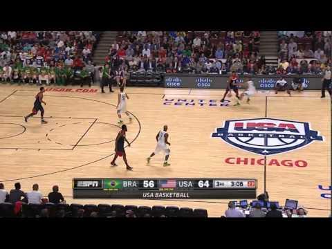 Derrick Rose's sick crossover and layup vs Brazil! - USAB 2014