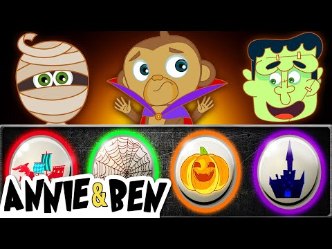 Halloween Funny Puzzle Game for Kids | Fun Time With SPOOKY MONSTERS | Educational Videos