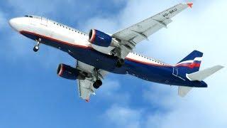 А-320 Аэрофлот посадка и SuperJet 100 Газпром авиа взлет
