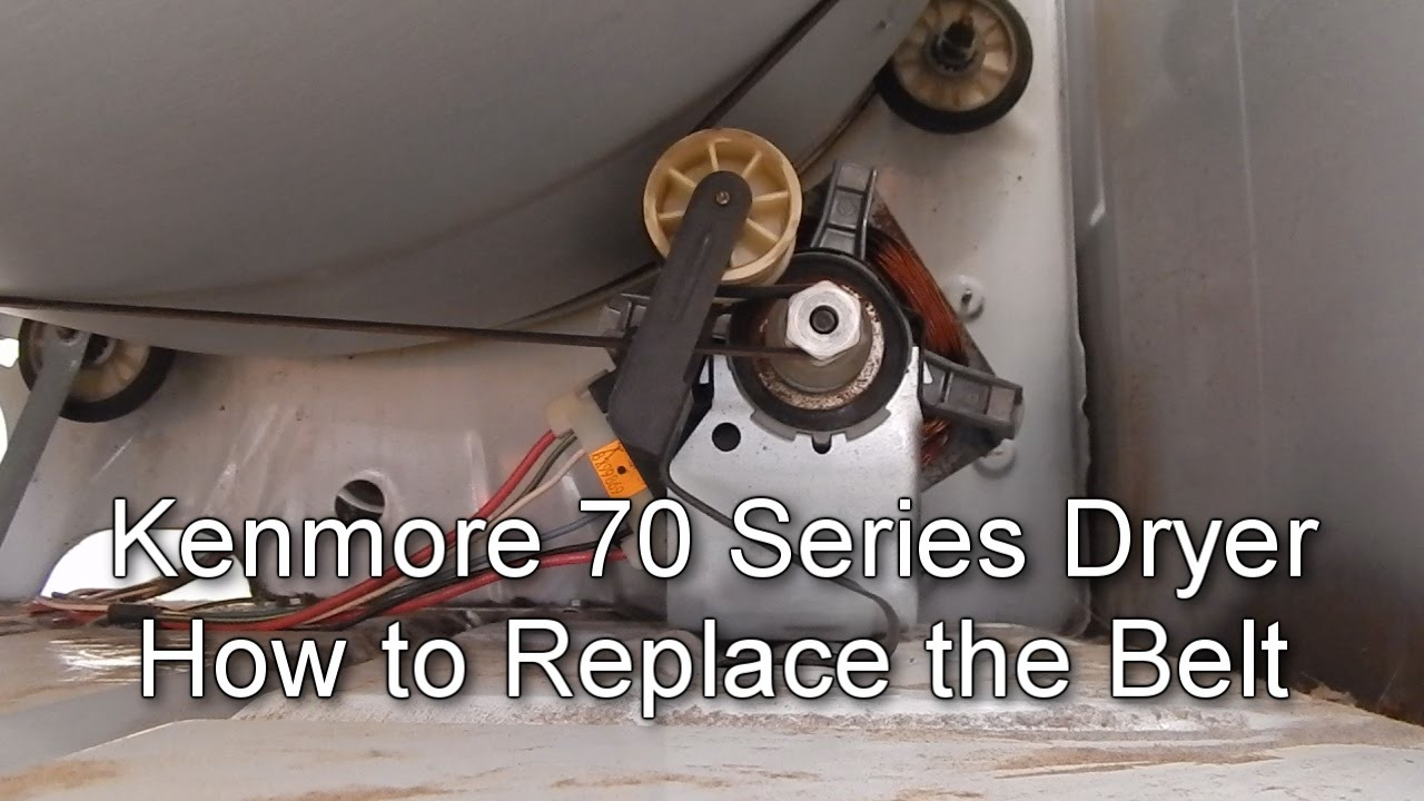 How to Replace the Belt on a Kenmore 70 Series Dryer YouTube