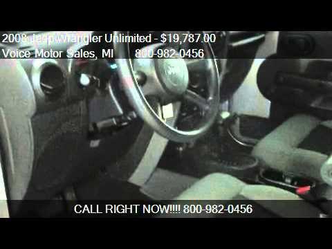 2008 jeep wrangler unlimited unlimited x 4x4 4 door for for Voice motors kalkaska mi