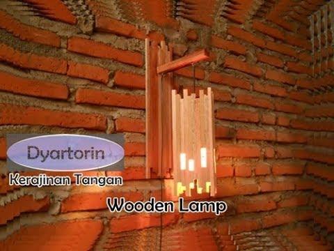 Cara Pembuatan Lampu Dinding Gantung dari Kayu