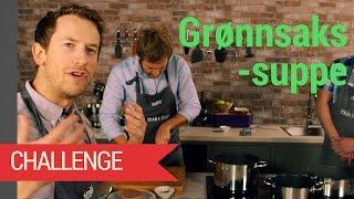 Grønnsakssuppe challenge | Posesuppe vs hjemmelaget suppe