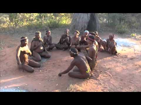 Primitive tribes in the heart of the Kalahari Desert Part 1 vs 2 : MAKING FIRE + GAME