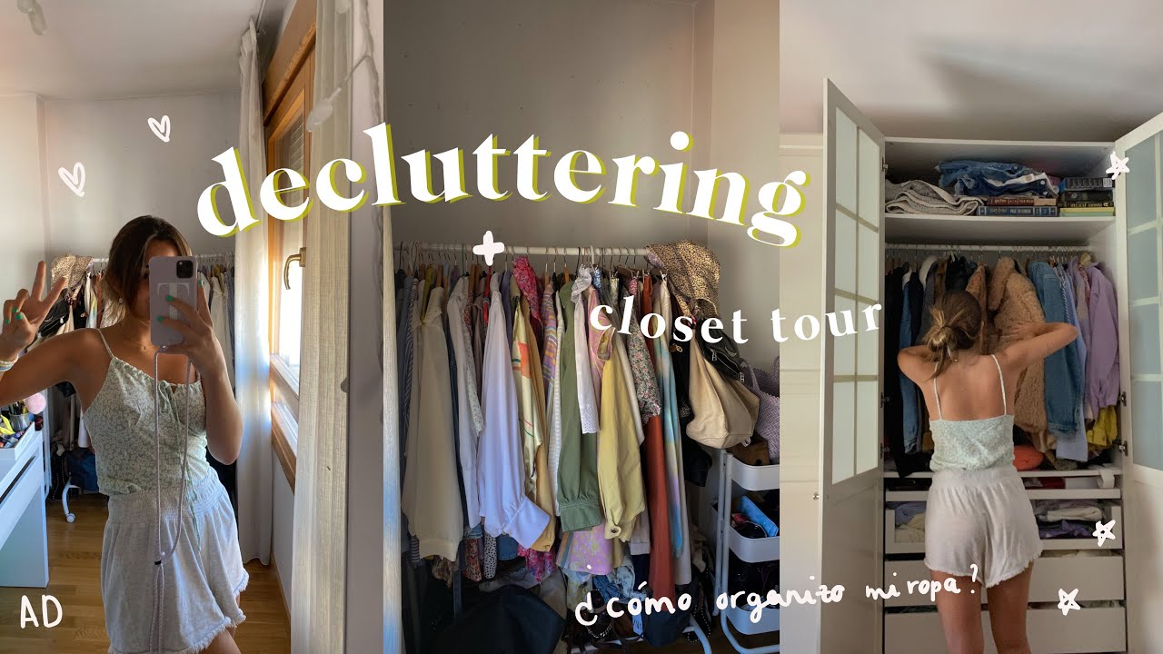 cómo organizo mi armario (tips) + limpieza | mini closet tour. AD
