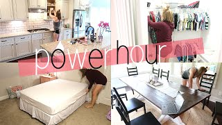 POWER HOUR | MAJOR CLEANING MOTIVATION | CLEAN WITH ME | SAHM
