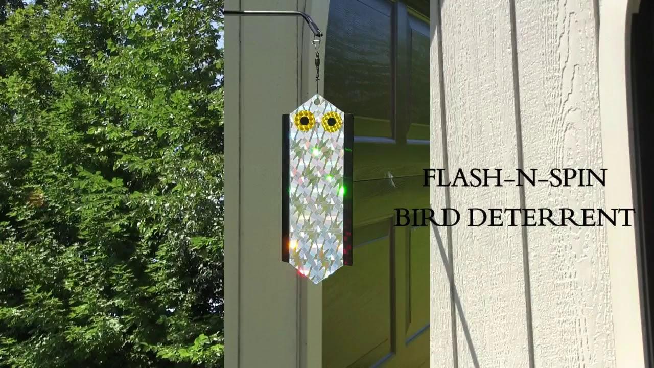 Flash-N-Spin Bird Deterrent Device