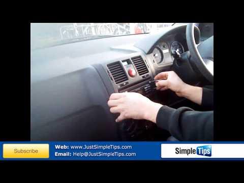 Radio Removal Hyundai Getz (2002-Present)   JustAudioTips