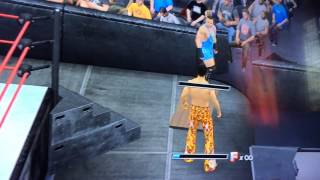 WWE 2k15 out of map Glitch