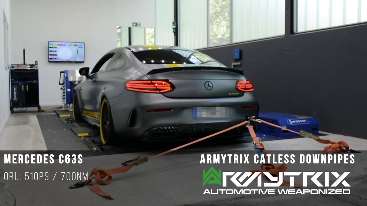 Mercedes AMG C63 S W205 Stage2 Armytrix Downpipes Chiptuning MR CHIPTECH