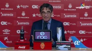 Rueda de prensa de Fernando Vázquez tras el RCD Mallorca vs Real Zaragoza (2-2)