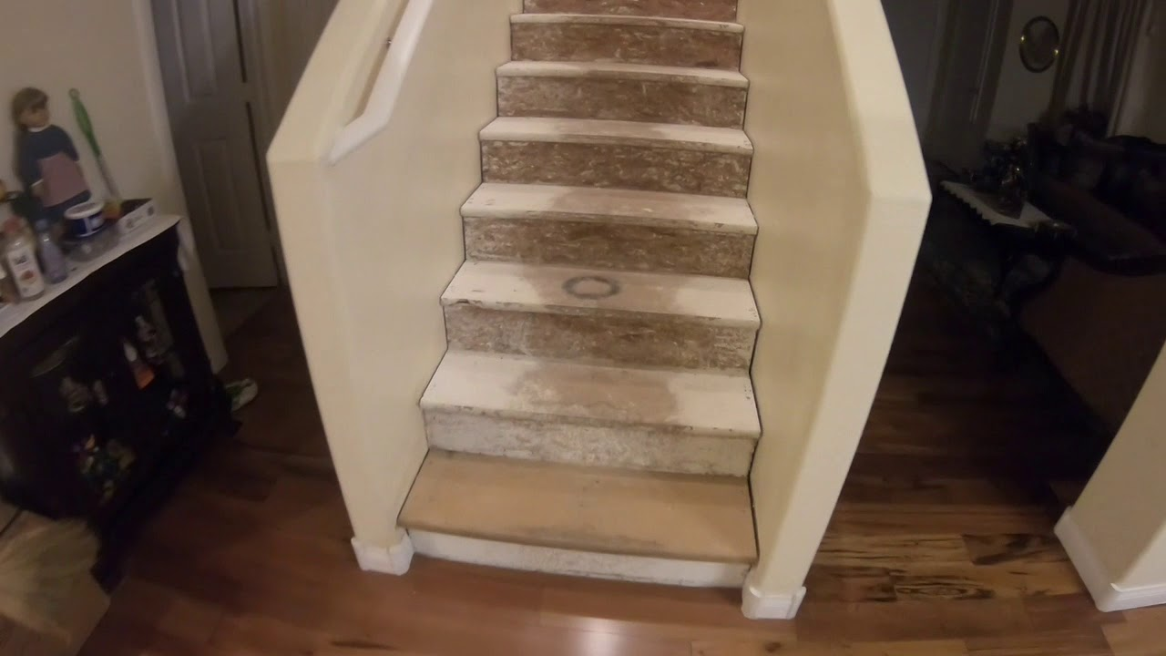 Carpet To Hardwood Stairs Diy Project Youtube