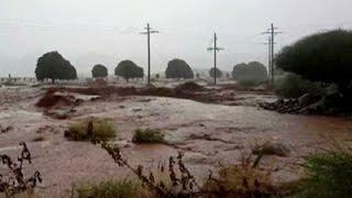 Heavy rains see the Orange River burst its banks