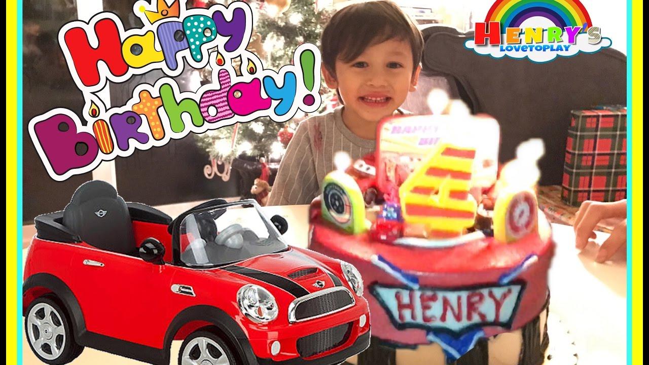 Birthday Party Henry S 4th Birthday Disney Cars Cake Surprise Toys