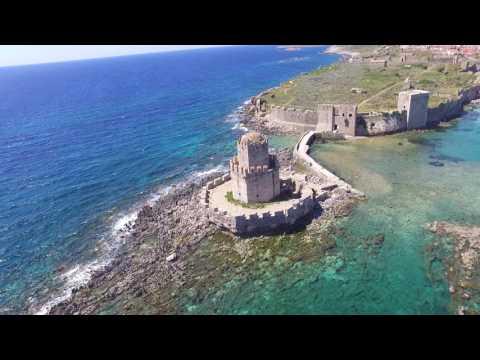 Methoni Fort & Harbor Greece (Drone Video)