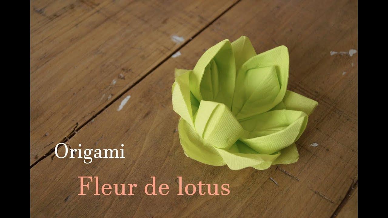 Origami fleur de lotus youtube - Youtube origami fleur ...