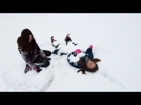 Snow Day Sledding at Hendrick Middle School
