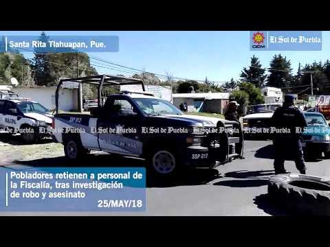 Retienen a personal de la Fiscalía de Puebla en Tlahuapan