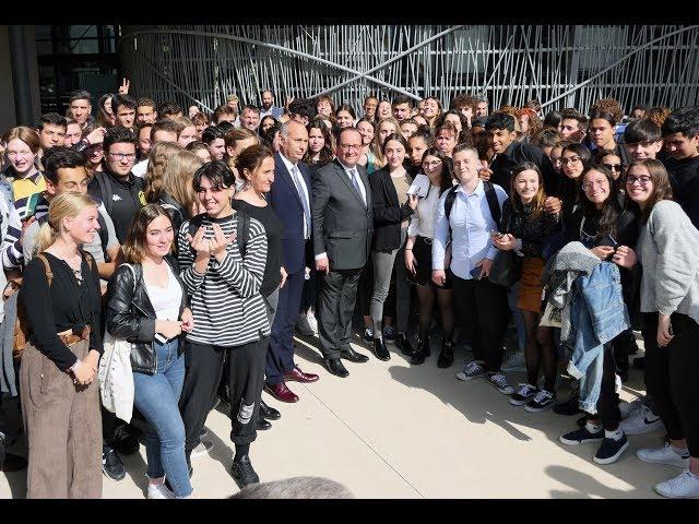 François Hollande au Lycée Joseph Vallot de Lodève  (Hérault 34).