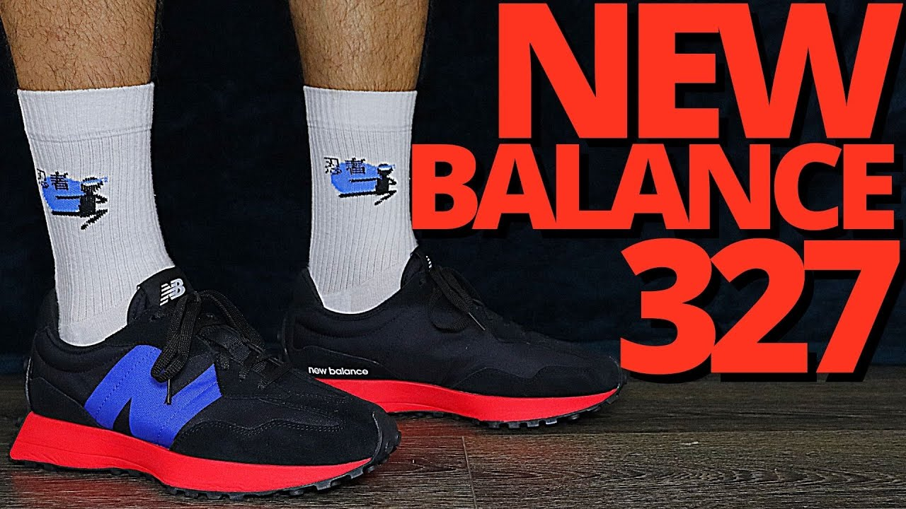 New Balance 327 BLACK / ENERGY RED On