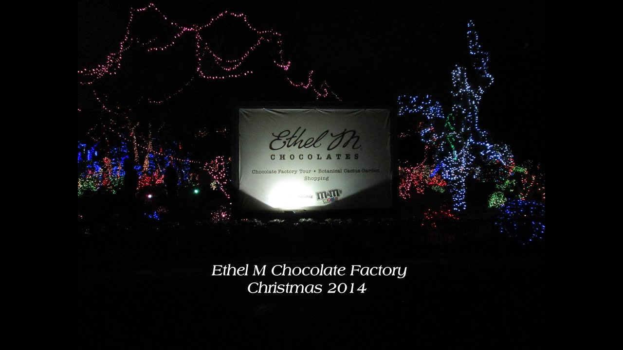 Christmas Lights Ethel M 2017 Las Vegas Chocolate Factory Botanical Cactus Garden Tour