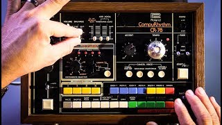 Roland CR-78 Vintage Drum Machine In Action