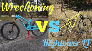 Evil Wreckoning VS Santa Cruz Hightower LT    Comparison