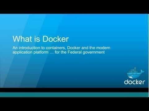 Docker 101 for Federal Agency IT