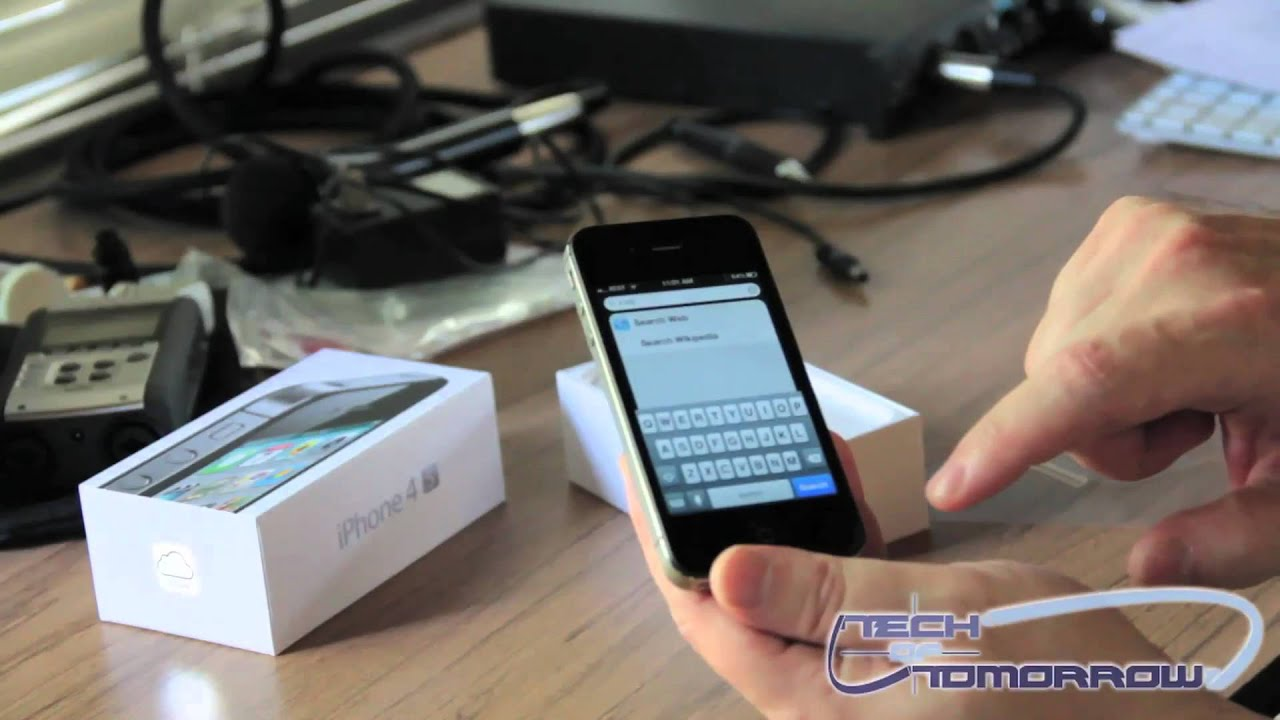 IPhone 4S 16GB Black Unboxing And First Look