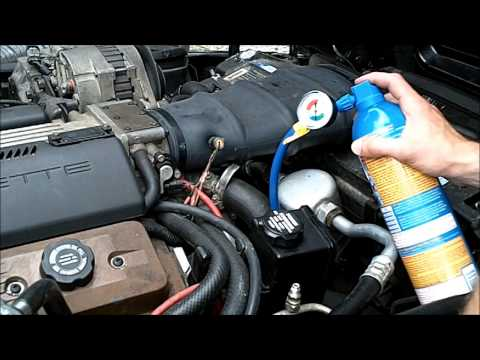 DIY Re Charging Car AC System - Recharging C4 CORVETTE