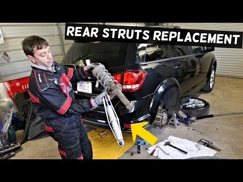 HOW TO REPLACE REAR STRUTS SHOCKS ON DODGE JOURNEY FIAT FREEMONT