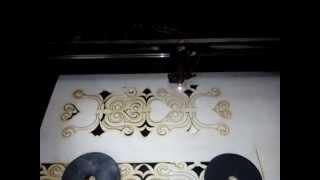 Лазерная резка фанеры. Изготовление декоративной решетки вентиляции(Данное видео показывает технологию изготовления декоративной вентиляционной решетки при помощи лазерной..., 2014-05-22T18:21:18.000Z)