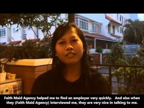 Faith Maid Agency Pte Ltd, Singapore - Testimonial by Foreign Domestic Worker, Susi Susanti