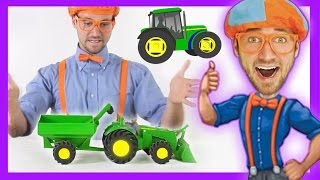 Tractor toy for toddlers - Learn colors and toys and animals for children