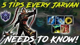 5 Tips Every Jarvan IV Needs to Know! League of Legends J4 Guide 2019
