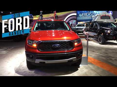 2019 Ford Ranger at the Detroit auto show