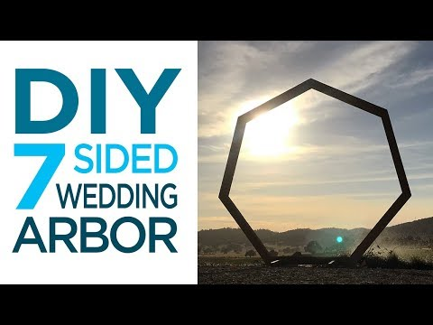 How to Build a 7-Sided Wedding Arbor / Woodworking | 35
