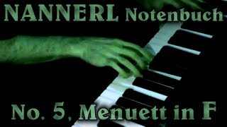ANONYMOUS: Menuett in F major (Nannerl Notenbuch No. 5)