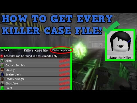 How To Get All Killer Case Files! Roblox Survive And Kill The Killers In Area 51!