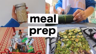 GROCERY SHOP & MEAL PREP WITH ME AS A COLLEGE STUDENT