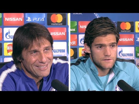 Antonio Conte & Marcos Alonso Full Pre-Match Press Conference - Chelsea v Roma - Champions League