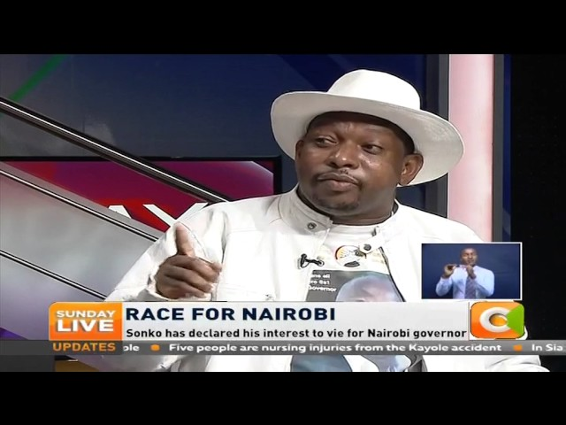 Sunday Live   Sonko: I will not step down for Peter Kenneth